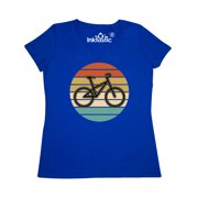 Bicycle Vintage Cyclist Sunset Women's V-Neck T-Shirt