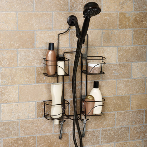 Hawthorne Expanding Shower Caddy, Bronze