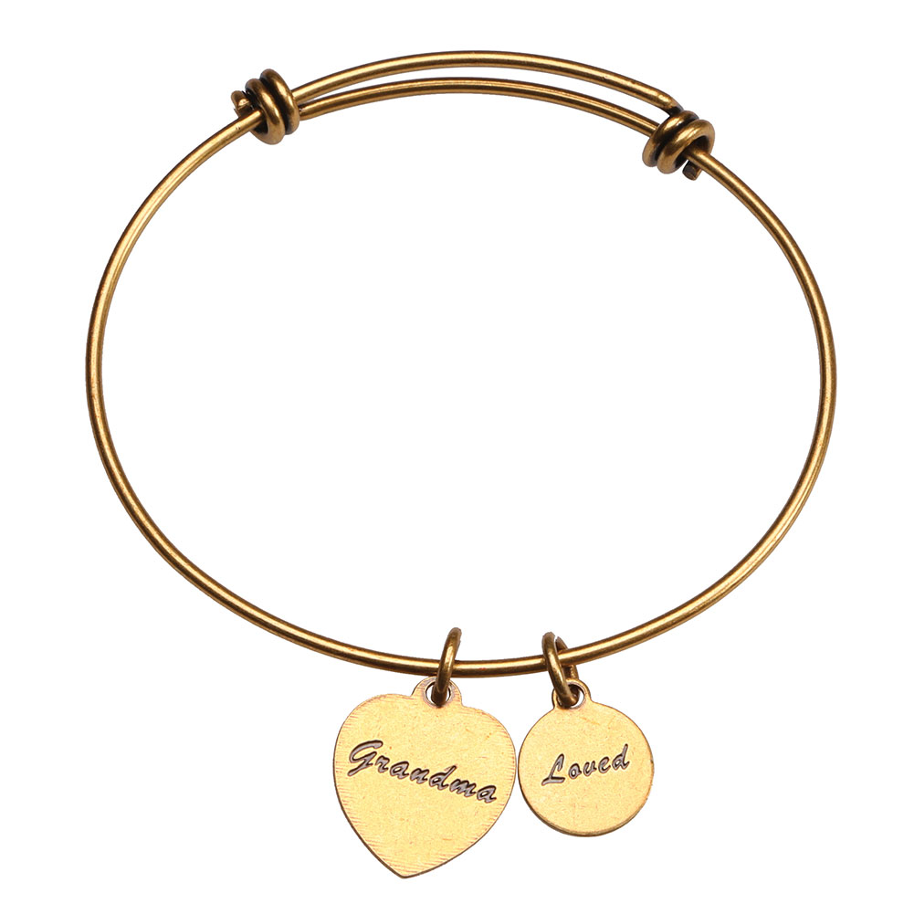 Women's Friends and Family Brass Bangle Bracelet - Grandma