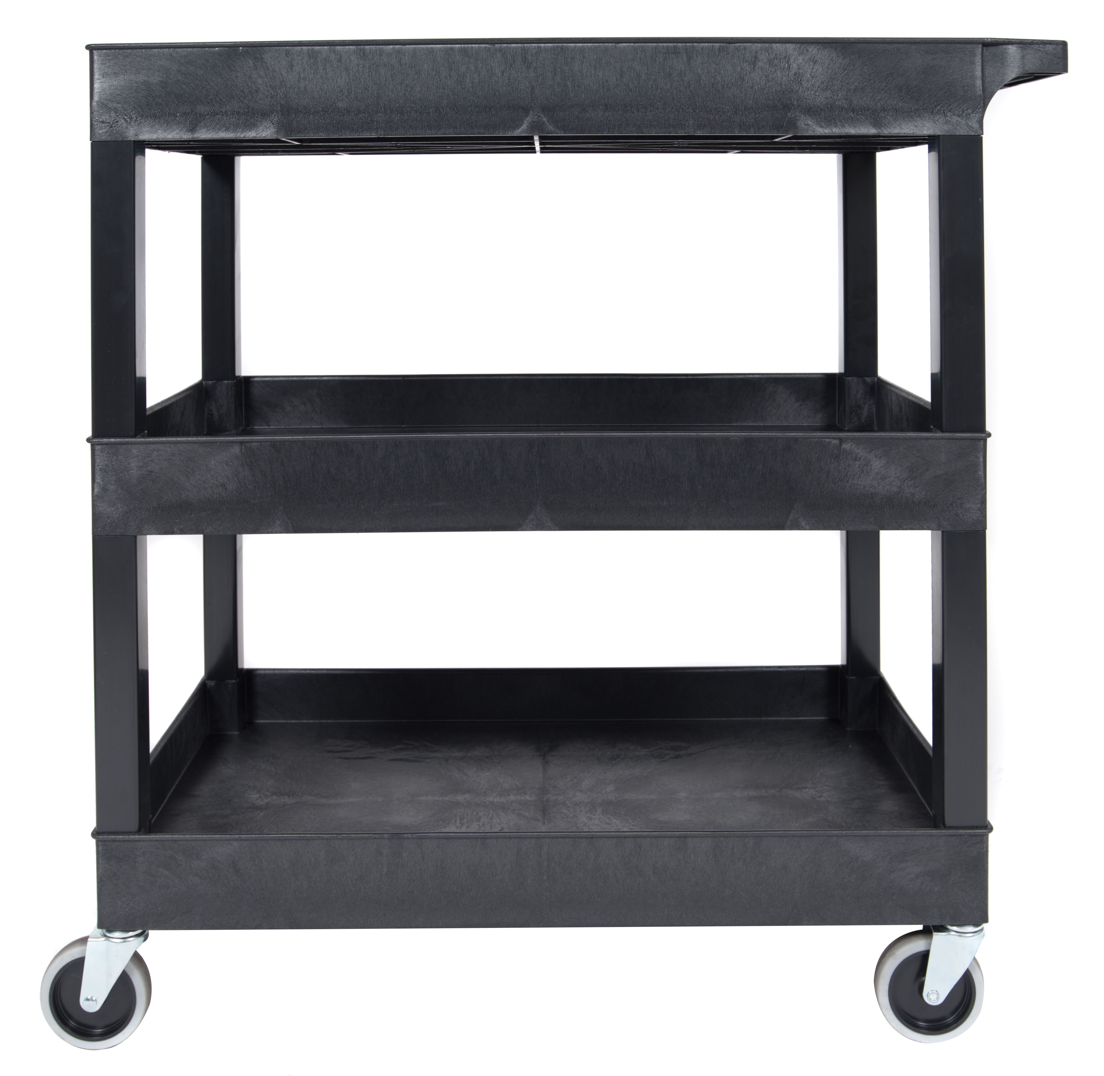 Luxor EC111-B Tub Storage Cart 3 Shelves Black,32 x 18