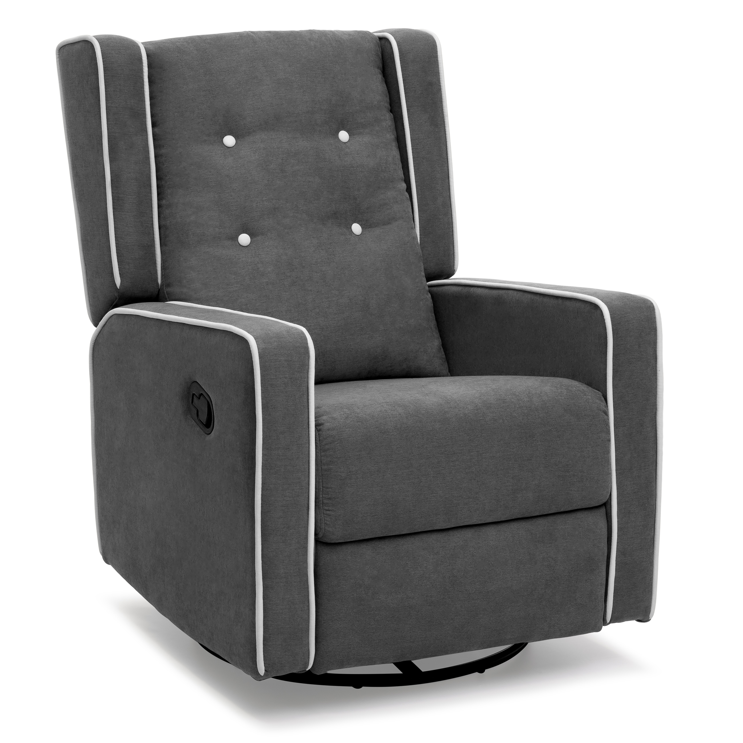 Best Choice Products Microfiber Tufted Upholstered Swivel Gliding Recliner - Gray