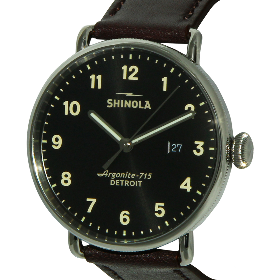 SHINOLA The Canfield Black Dial Leather Men's WatchItem No. 12001939