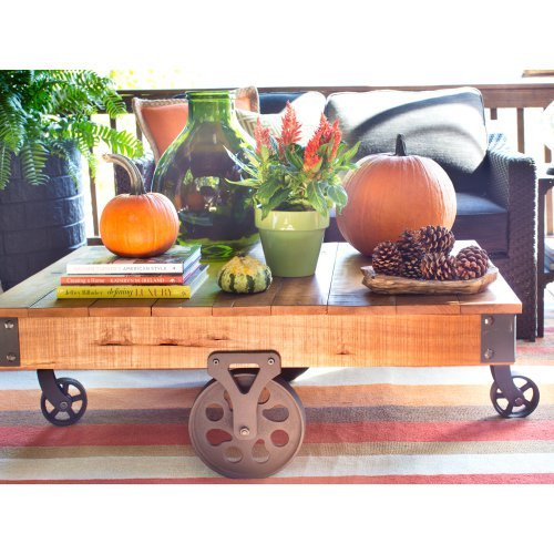 Clayton Coffee Table: Weston Home Clayton Cocktail Table With Wheels