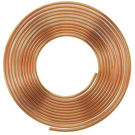 MUELLER INDUSTRIES Type L Copper Tubing,1/4 ID,3/8 OD,20 ft LSC2020P ()