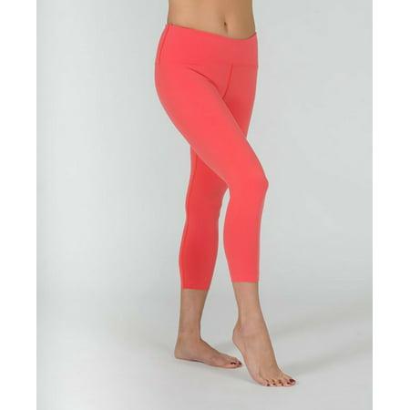 Rhubarb Three-Quarter Legging Yoga Pants - S
