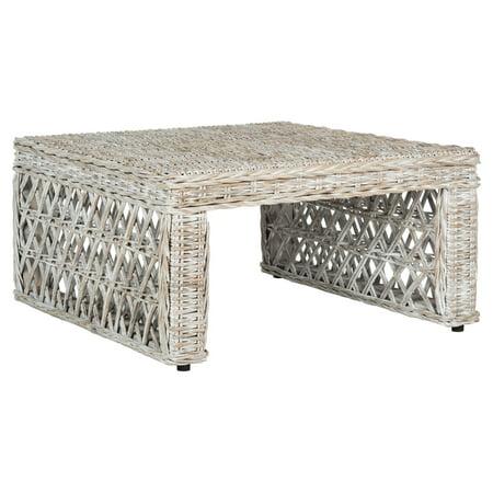 Safavieh Shila Wicker Coffee Table, Natural Wicker Antique Coffee Table