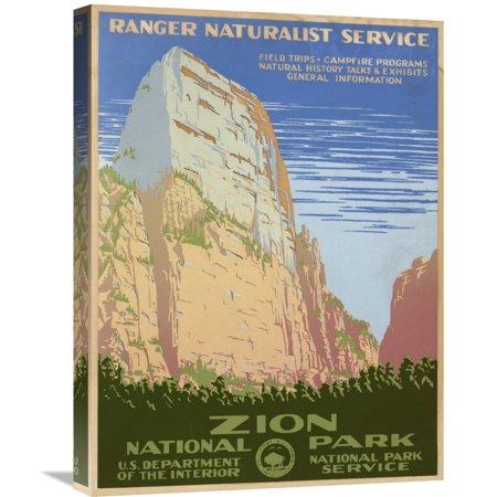 Global Gallery Ranger Naturalist Service Zion National Park  Ca  1938 Canvas Wall Art