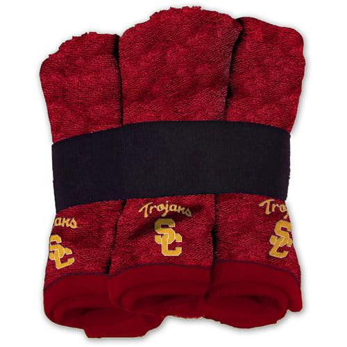 NCAA Southern California Trojans Wash Cloth Set, 6pk