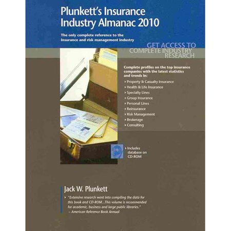 Plunketts Insurance Industry Almanac  The Only Complete Reference To The Insurance And Risk Management Industry