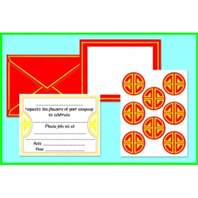 Beistle - 50290 - Chinese Invitations And Seals- Pack of 12