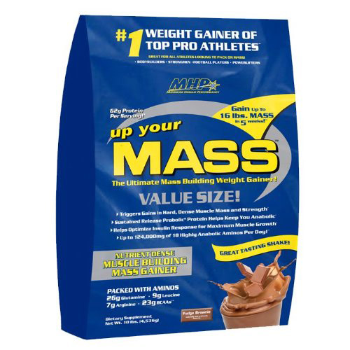 MHP Up Your Mass - Chocolate Fudge Brownie 10lb - Weight Gainer