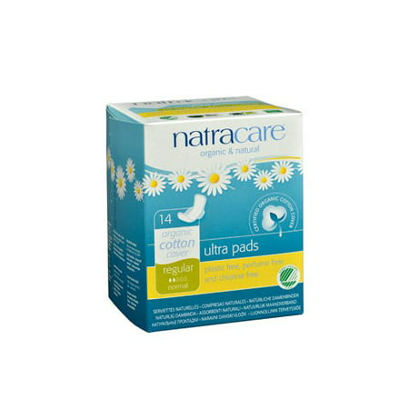 Natracare Organic Maternity Pads Natural - Natracare Natural Ultra Pads w/wings Regular w/organic cotton Cover -  14 Pack