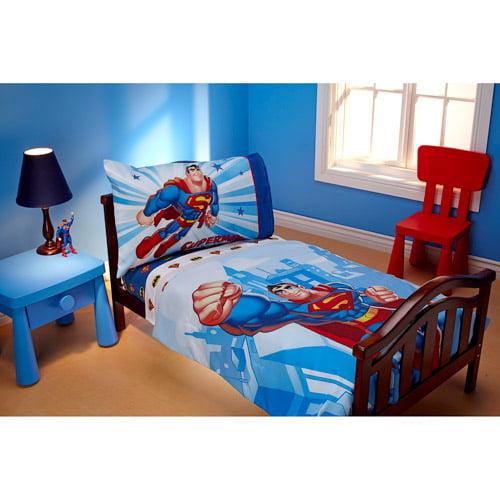 DISCONTINUED - Warner Bros. DC Super Friends Reversible 4-Piece Toddler Bedding Set