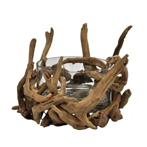 Driftwood Round Bowl - Natural