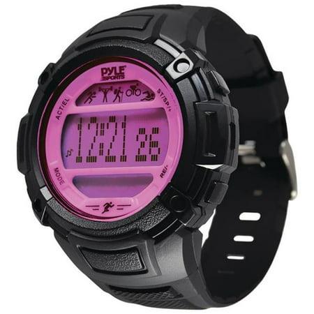 Multifunction Activity Watch - Pink Multi Gemstone Watch