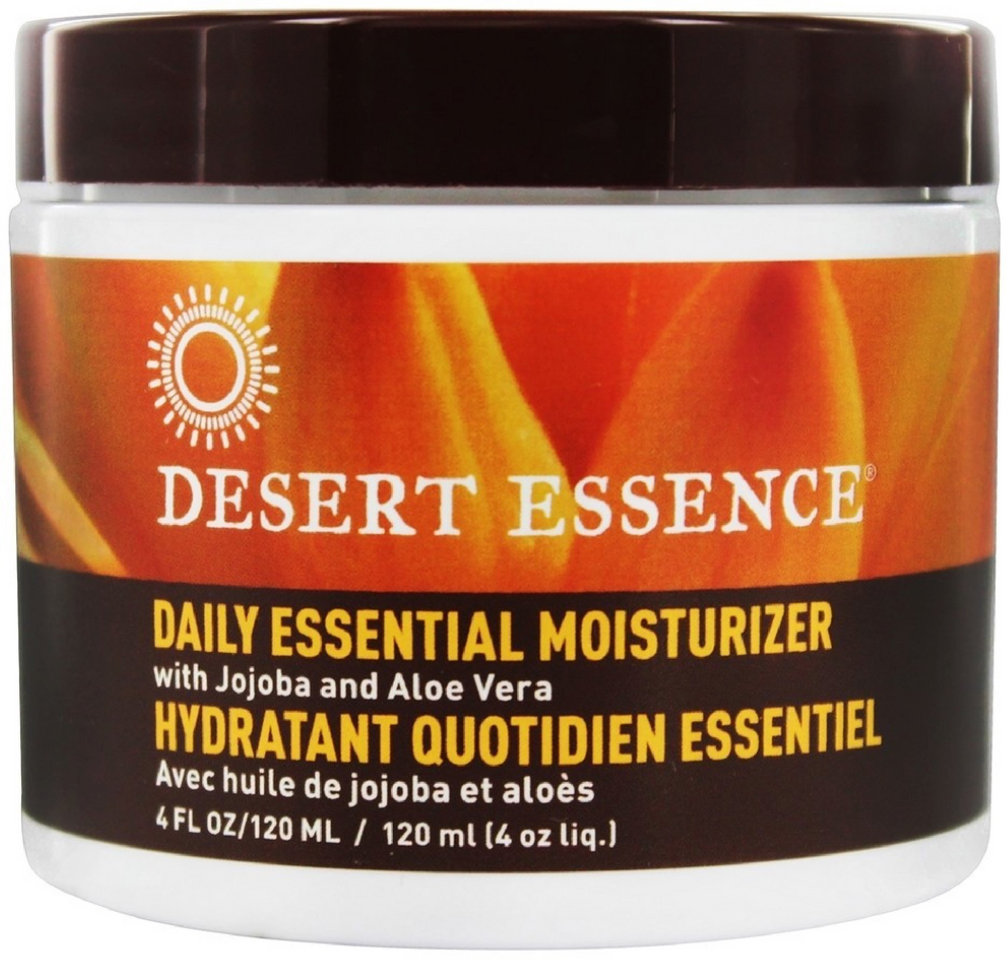 2 Pack - Desert Essence Daily Essential Moisturizer with Jojoba & Aloe Vera 4 oz