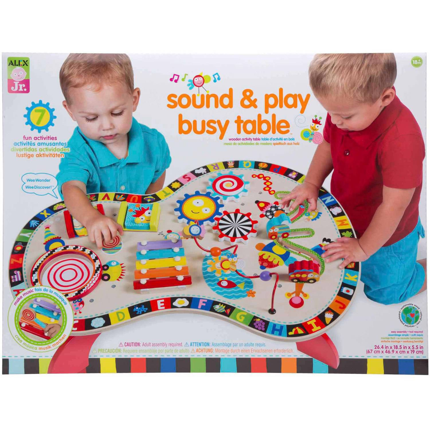 ALEX Toys ALEX Jr. Sound and Play Busy Table Baby Activity Center with 8 Activities