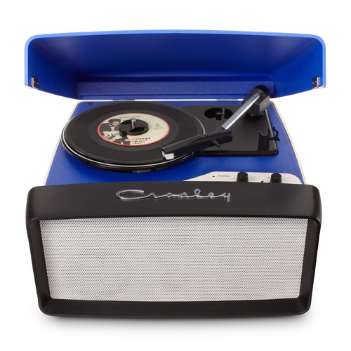 Crosley Radio Collegiate Portable USB Turntable in Blue