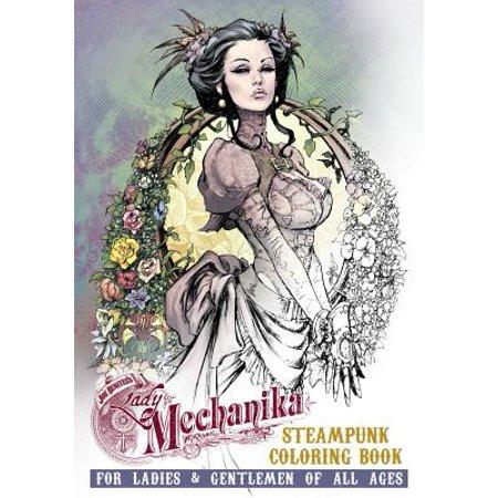 Lady Mechanika Steampunk Coloring Book - Lady Steampunk