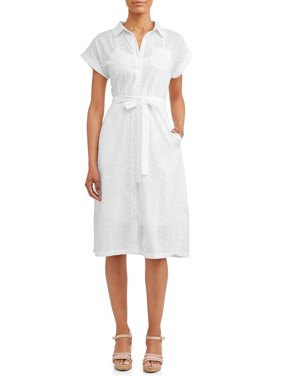 40032c708a2 Product Image Women s Belted Midi Shirt Dress with Pocket