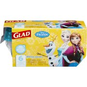 Glad Food Storage Containers - Disney Frozen Mini Round Containers - 4 oz - 6 ct
