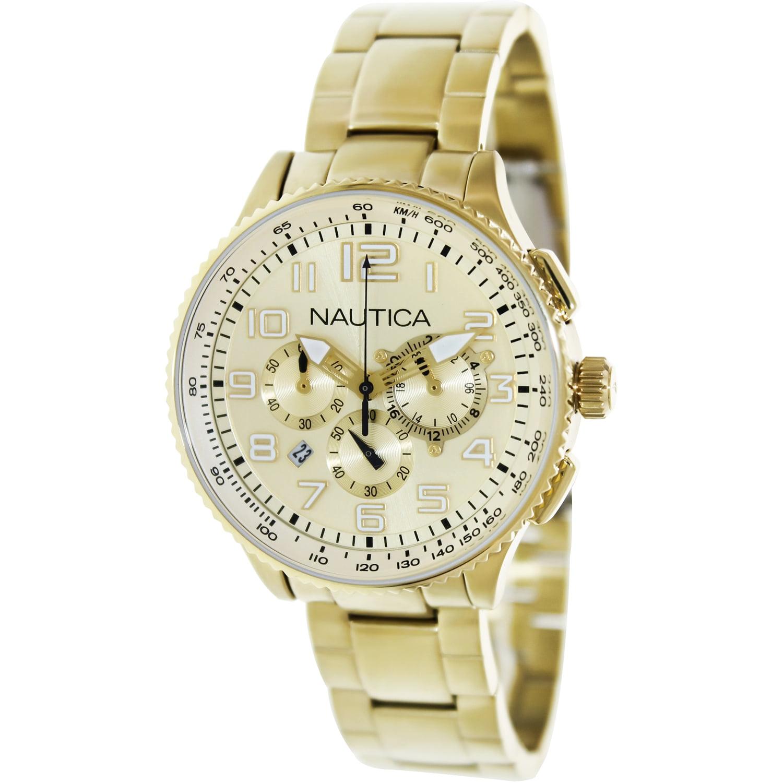 Nautica Women's Ocn 38 N26533M Gold Stainless-Steel Quartz Fashion Watch by Nautica
