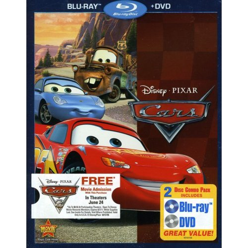 Cars (Blu-ray   DVD) (Widescreen)