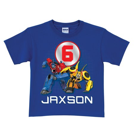 Personalized Birthday T-Shirt - Transformers Robots in Disguise - Transformers Birthday