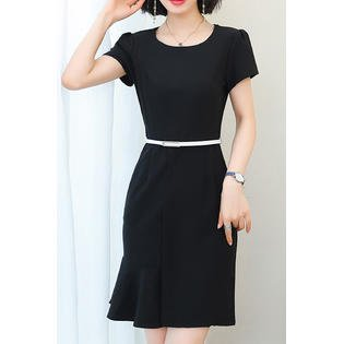 Junior Short Sleeve Simple Summer Fashion Dress