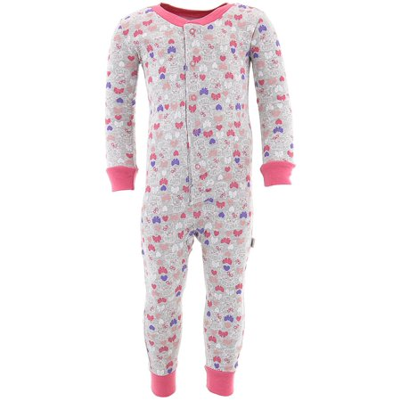 Bunny 4 Piece (Duck Duck Goose Little Girls' Gray Bunny Cotton One-Piece Pajamas)