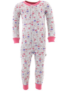 acf0dd052 Product Image Duck Duck Goose Little Girls' Gray Bunny Cotton One-Piece  Pajamas