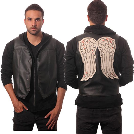 Walking Dead Daryl Dixon Vest Faux Leather Wing Governor ...