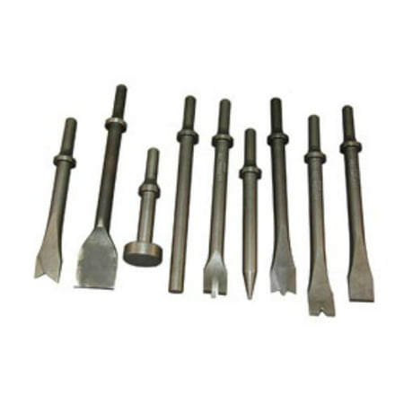 Rel Products, Inc. ATD-5730 All- Purpose Air Hammer Chisel Set, 9 Pc.