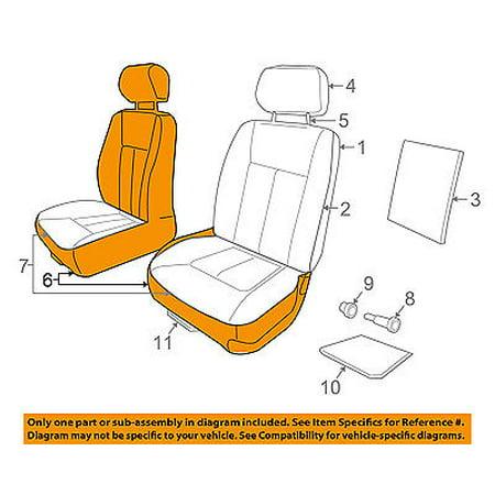 Chrysler Seat (CHRYSLER OEM Front Seat Bottom-Foam Cushion Pad Insert Left 5143783AA)