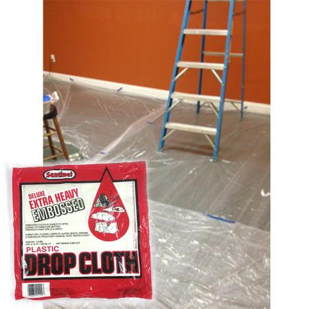 4 Large 9' x 12' Ft Painting Clear Plastic Drop Sheet Dust Tools Furniture (Chris Brown Ft Nicki Minaj Ft Drake)