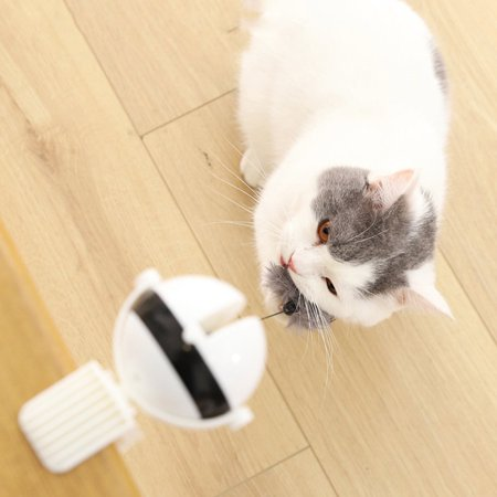 Automatic Cat Playing Toy Easy Installment Abs Rabbit Hair Cat Playing Toy - image 2 of 5