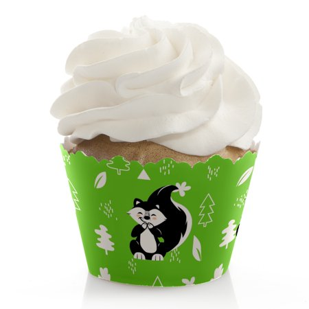 Little Stinker - Woodland Skunk Baby Shower or Birthday Party Decorations - Party Cupcake Wrappers - Set of 12](Skunk Babies)