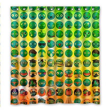 Ganma Crazy Ants Emoji Shower Curtain Polyester Fabric Bathroom 66x72 Inches