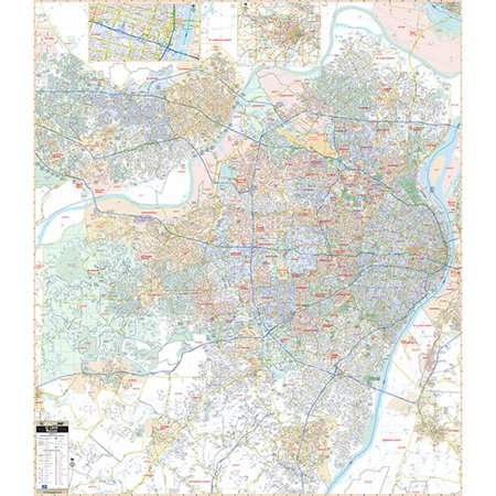 Universal Map Laminated St Louis MO Wall Map 68.5'' x 59.38''