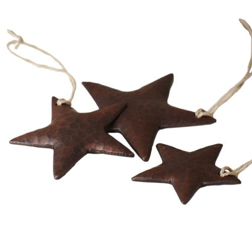 Native Trails CPO35 Handcrafted Copper Star Ornaments (Set of 3)