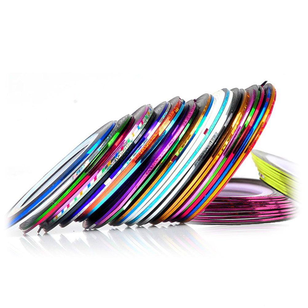 30 pcs Mixed Colors Rolls Striping Tape