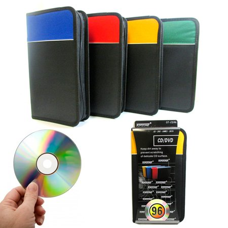 Wooden Cd Holder (1 Pc CD Holder 96 Capacity DVD Case Storage Wallet Disc Media Book DJ)