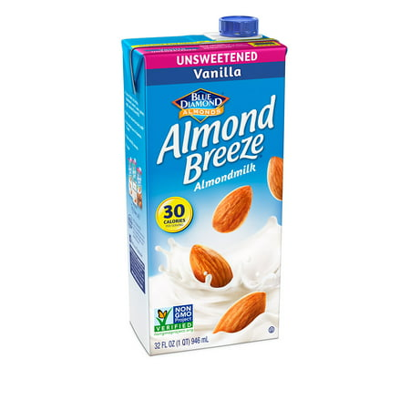 (4 pack) Almond Breeze Almondmilk, Unsweetened Vanilla 32 fl