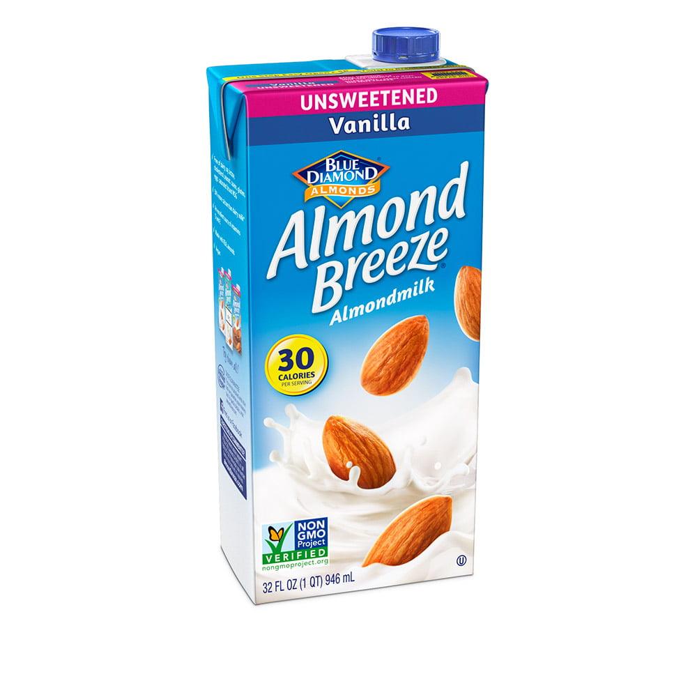 (4 Pack) Almond Breeze Almondmilk, Unsweetened Vanilla 32 oz