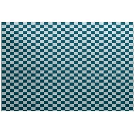 Simply Daisy 4 X 6 Gingham Check Geometric Print Indoor Rug