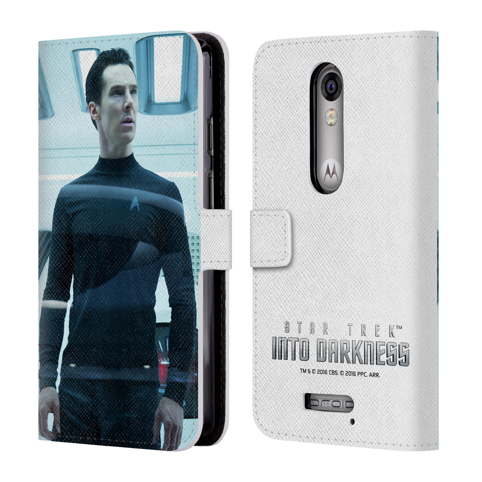 OFFICIAL STAR TREK MOVIE STILLS INTO DARKNESS XII LEATHER BOOK WALLET CASE COVER FOR MOTOROLA PHONES