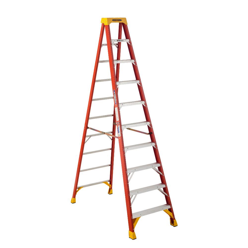 Werner 6210 10 ft. Type IA Fiberglass Step Ladder by Werner