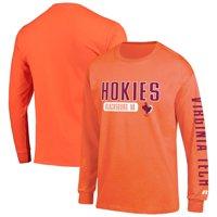 Men's Russell Athletic Orange Virginia Tech Hokies Hit Long Sleeve T-Shirt