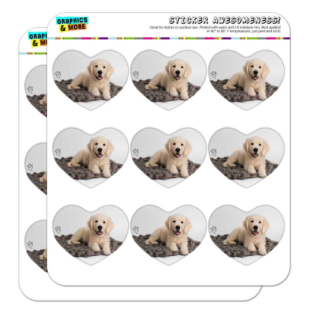 Golden Retriever Puppy Dog Knotty Blanket Heart Shaped