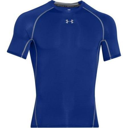 under armour 1257468 men's royal heatgear s/s compression shirt - size 2x-large